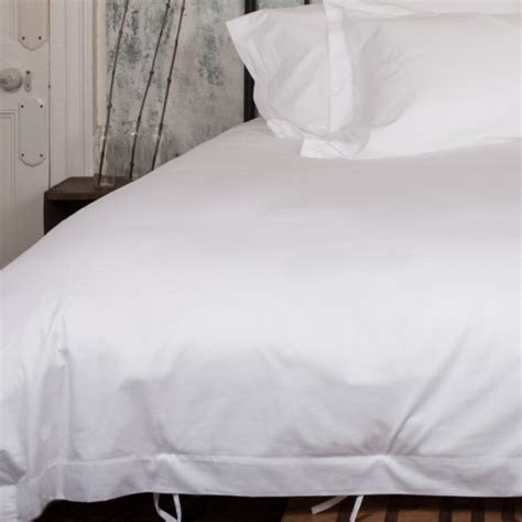 White Cover by Luxury Plain White Duvet Cover Beaumont Brown