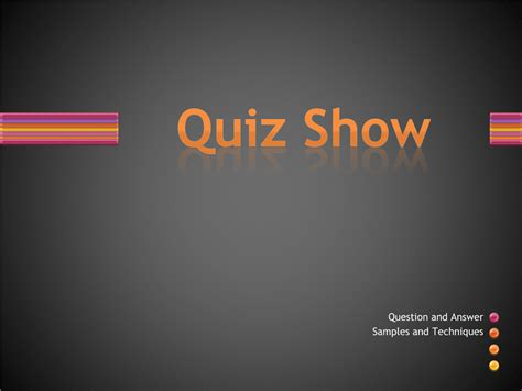 quiz show template powerpoint powerpoint template quiz show choice image powerpoint