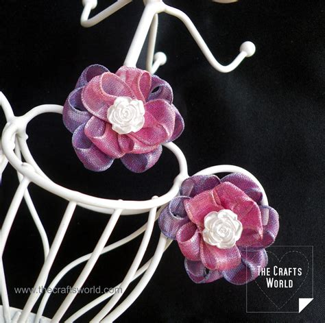 Ribbon Earrings diy earrings with ribbon the crafts world