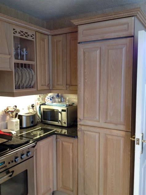 Limed Oak Kitchen Cabinets Limed Oak Kitchen Now Painted Wilmslow Cheshire