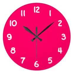 pink clocks amp pink wall clock designs zazzle