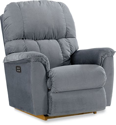 Sears La Z Boy Recliner by La Z Boy Power Imperial Recliner Coastal Blue Sears