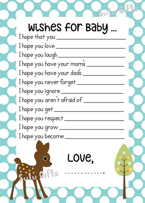 Baby Shower Wishes For Baby Boy by Baby Boy Baby Shower Wishes For Baby Advice Cards
