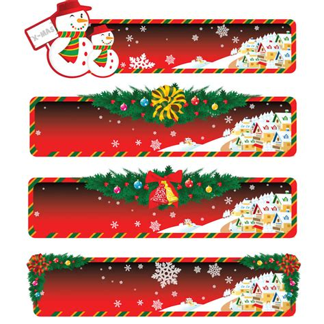 holiday christmas banner templates vector free stock