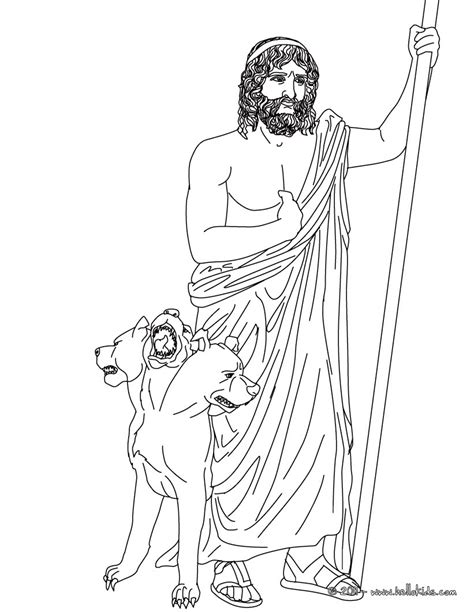 god coloring pages hades the god of the underworld coloring pages