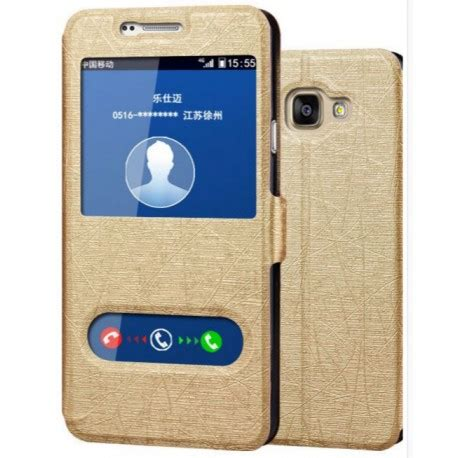 Ume Flipcase Samsung A7 2016 gold s view flip for samsung galaxy a7 2016