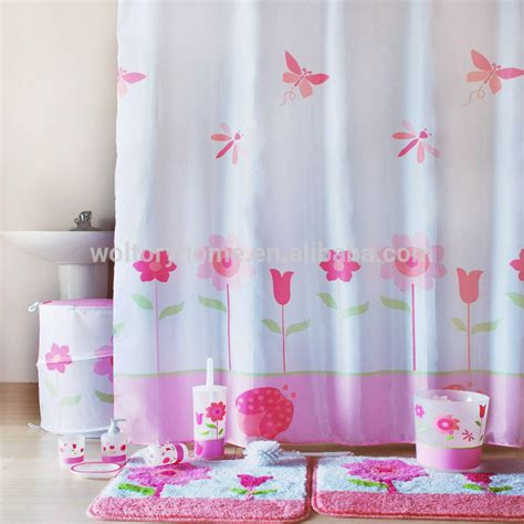 girl shower curtain set romantic bathroom set in match design secret garden bath