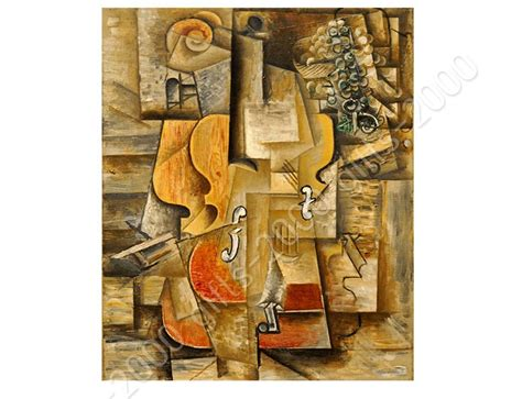 pablo picasso paintings violin synthetic canvas gift violin and grapes pablo picasso