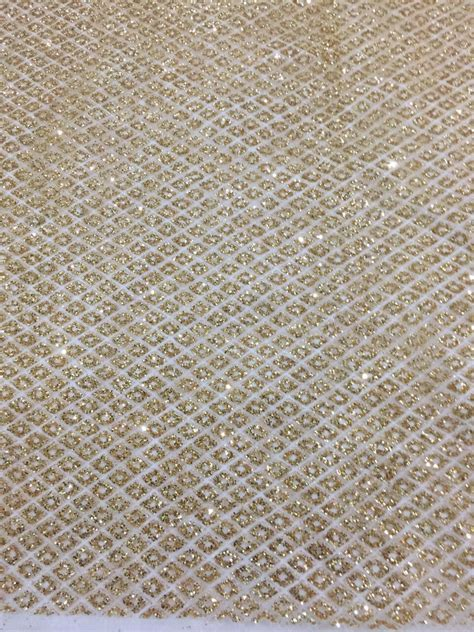 lace material asoebi 5 yards lot aso ebi style tulle net lace with gold glitter
