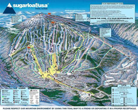 maine ski resorts map 2001 02 sugarloaf trail map new england ski map database