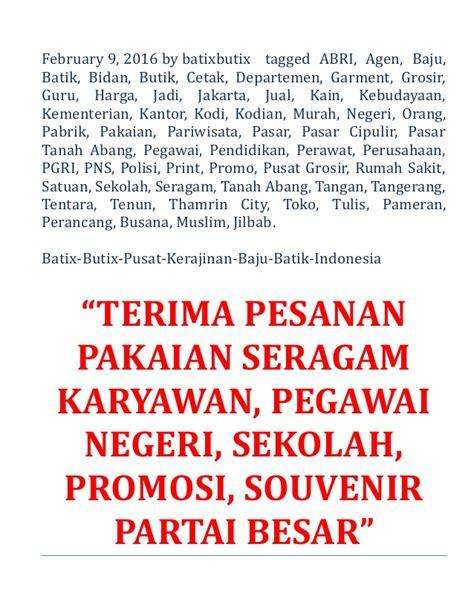Grosir Tongsis Harga Partai T1910 4 batik pekalongan jual murah harga grosir promo