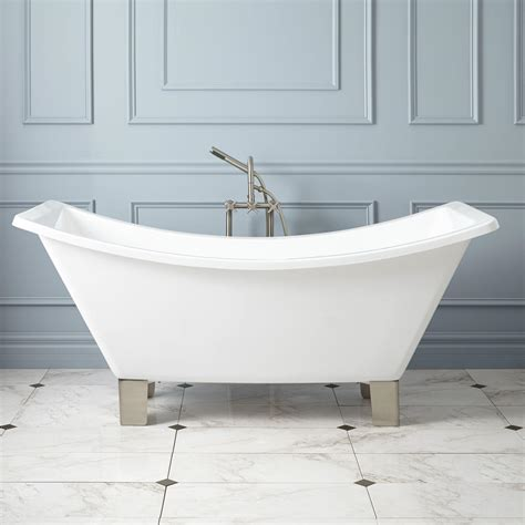 slipper tub 72 quot acrylic slipper tub bathroom