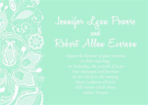 Printable Green Wedding Invitations Online Part 3