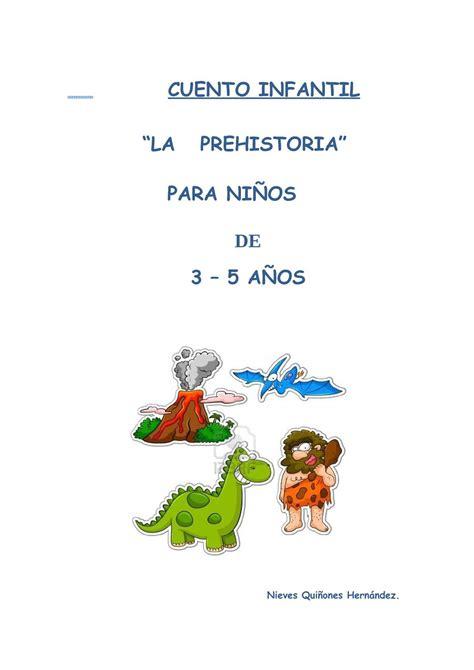 calameo la prehistoria  educacion infantil
