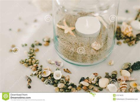 jar  sand shells royalty  stock  image
