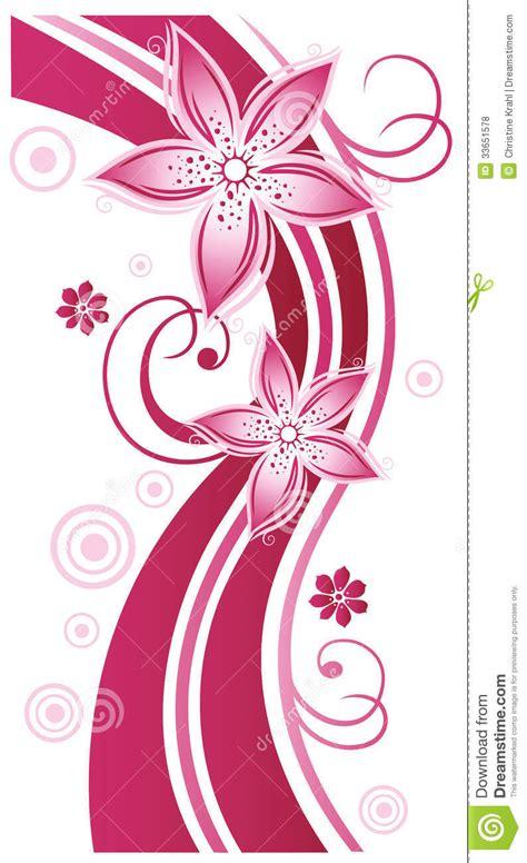 ranken bloemen bloemen rank bloemen roze vector illustratie