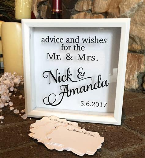 Wedding Advice Box by Wedding Wishes Box Wedding Advice Box Bridal Shower Advice