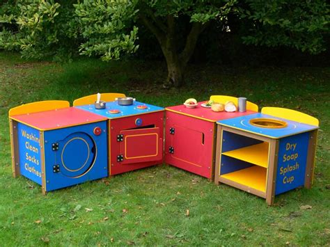 kitchenphonics outdoor play kitchen set of 4 units trade