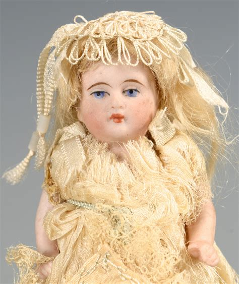 bisque doll 2015 lot 587 miniature german bisque doll