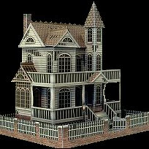 printable haunted house paper the ghost house a free paper model