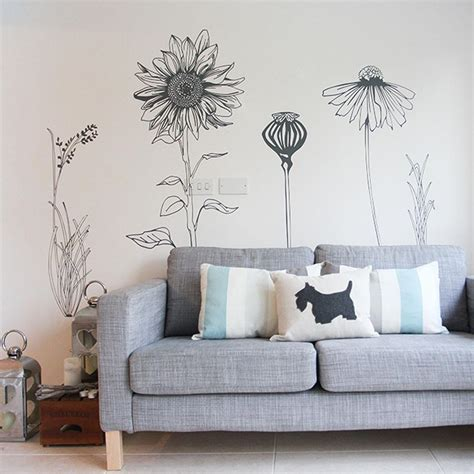 Wall Stiker Uk 60x90 Wall Sticker Dinding 2 Ikan Duyung Stiker Dinding large style flower wall stickers vinyl impression