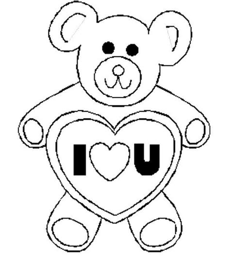 coloring pages i love u valentines day coloring pages bear i love u valentine