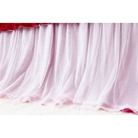 sheer bed skirt pink bedskirt