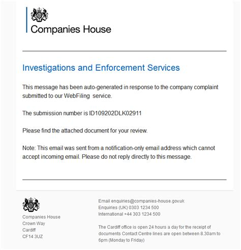 companies house uk dynamoo s blog malware spam quot companies house new company complaint quot noreply