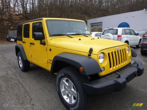 yellow jeep wrangler unlimited baja yellow 2015 jeep wrangler unlimited sport s 4x4