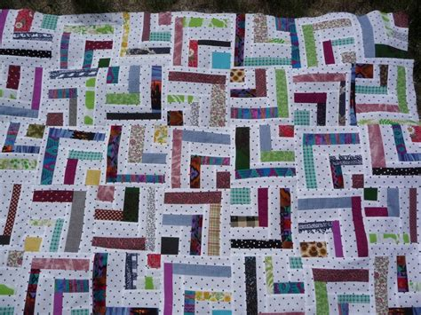 Half Log Cabin Quilt Pattern by January 5 2013 I Want Half Of A Log Cabin We