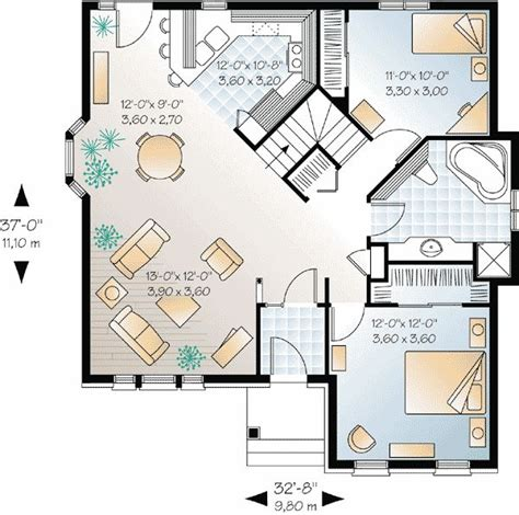floor plans for small homes open floor plans plan 21210dr small house plan with open floor plan