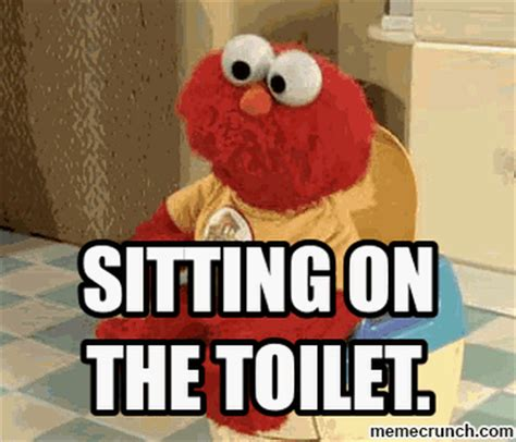 Toilet Meme - elmo on the toilet