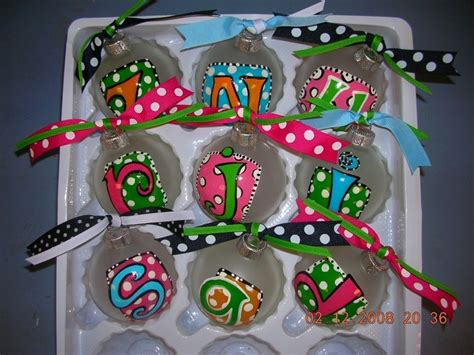 hand painted personalized christmas ornaments