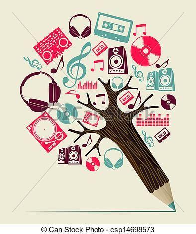 imagenes a lapiz musica ilustraciones vectoriales de dj concepto m 250 sica 225 rbol