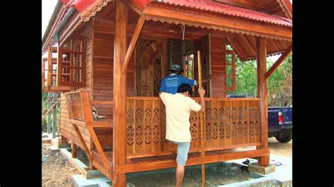 Building house in Thailand  .. Thai teak wood and