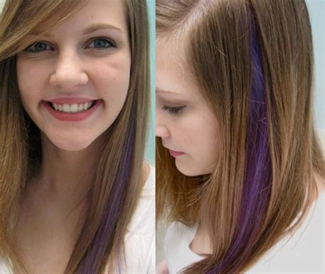 color or streaks in jlos hair a manic panic experiment purple hair streak beautiful