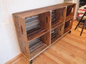 Bookcase Made From Crates Diy Vintage Crate Shelving Unit