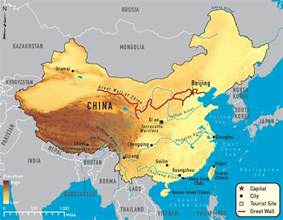 Rivers In China Map by China Rivers Map Important Rivers In China