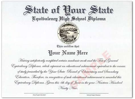 ged diploma template best photos of printable ged certificate template free