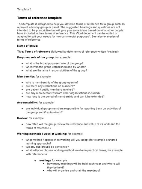 terms  reference template docx copyright