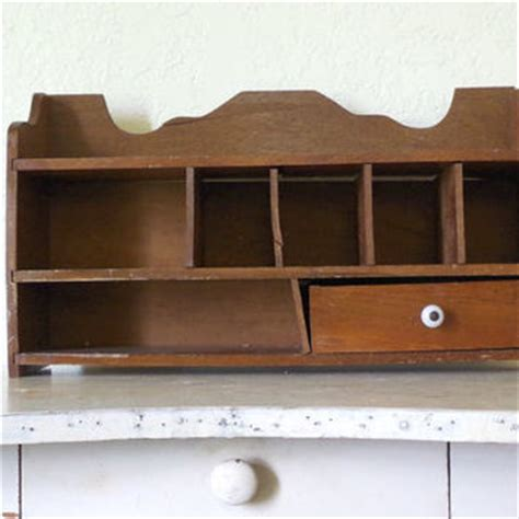 desk cubby organizer best vintage wood desk products on wanelo