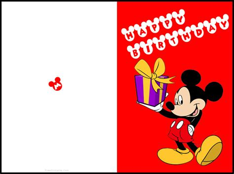 printable birthday cards disney free printable mickey mouse birthday cards luxury
