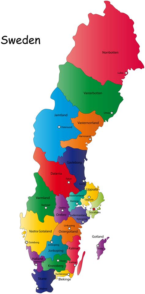 sweden on a map sweden tourist destinations