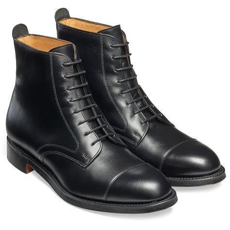 black boot cheaney black derby boot made in