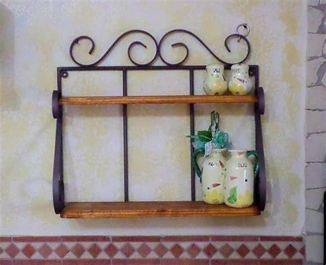 mensola portaspezie mensola fioriera portaspezie in ferro battuto legno