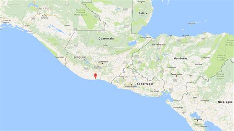 san jose guatemala map magnitude 6 8 earthquake of guatemala s pacific coast