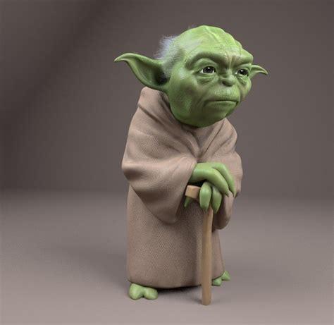figure 3d model yoda figurine 3d model 3d printable obj cgtrader