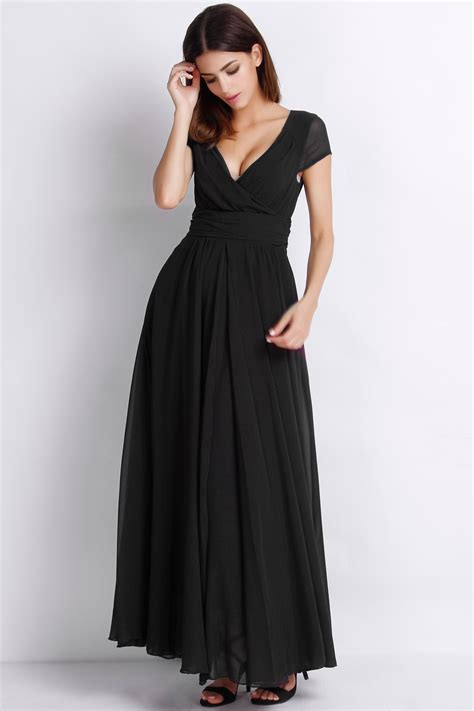 Dress The Fashion s fashion maxi surplice chiffon dress