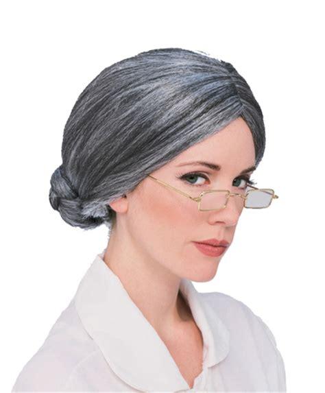 grandma hairstyles halloween grey old lady grandma wig for halloween costume ebay
