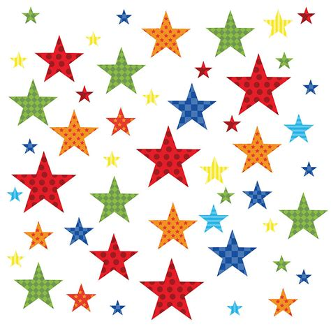 Stars Wall Stickers childrens bright star wall stickers by kidscapes